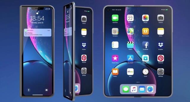 Apple estaría trabajando en un prototipo de celular con pantalla plegable según afirmas insiders de la industria de la telefonía móvil. | Fuente: Applesfera.