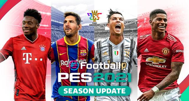 eFootball PES 2021, la gran actualización para PES 2020 que renueva el gameplay y las plantillas de los equipos, ya esta disponible. | Fuente: Konami.