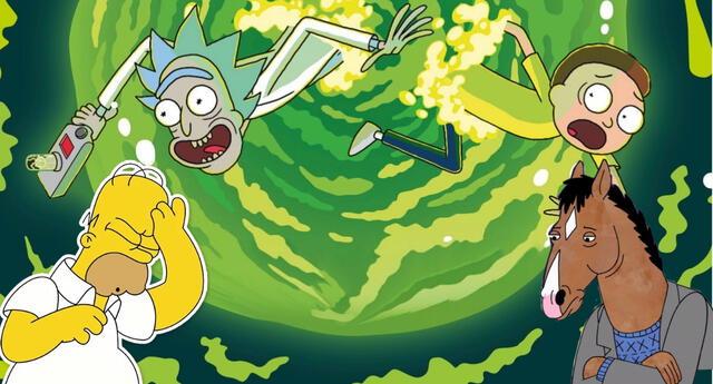 Rick & Morty se impuso ante el favorito de todos BoJack Horseman en los Premios Emmy 2020. | Fuente: Composición.