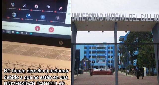 Profesor de la UNAC lanza groserías y grita a sus alumnos