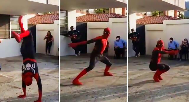 ¡Spider-Man se convierte en bailarín! Imitador del superhéroe conquista a fans en video viral
