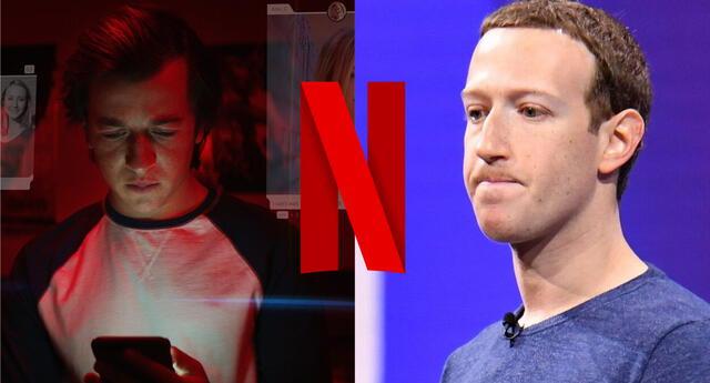 Parece que a Facebook no le gusto nada que El Dilema de las Redes Sociales, documental producido por Netflix, expusiera las problemas de su plataforma./Fuente: Composición.