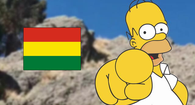 Una roca parecida a Homero Simpson es la sensación en Bolivia.