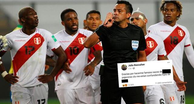 Cientos de fans insultan al árbitro Julio Bascuñan en su Facebook, pero resultó ser un homónimo