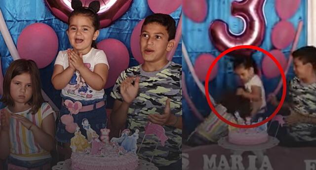 Niña arruina el cumpleaños de su hermana y la reacción furiosa se vuelve viral (Video)