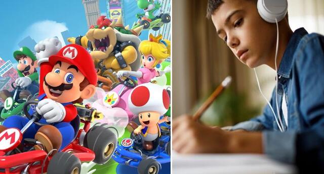 La música de Mario Kart ayudaría a los jóvenes a realizar sus tareas con rapidez.