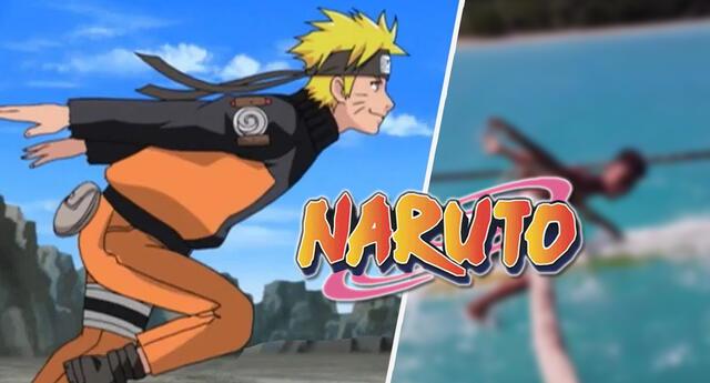 Naruto : Dos jóvenes se vuelven virales tras correr como el ninja sobre las aguas del mar