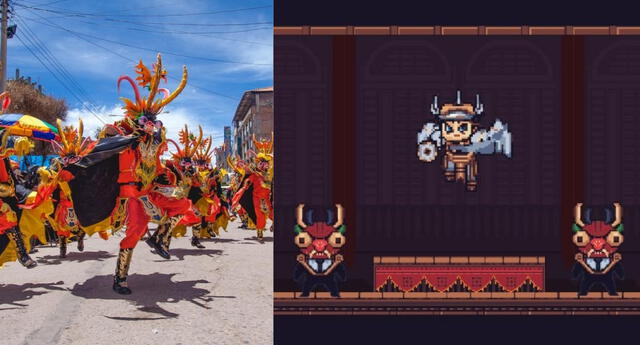 Al Ritmo de la Diablada es un videojuego musical desarrollado por peruanos y que está inspirado en la tradicional diablada puneña./Fuente: Composición.