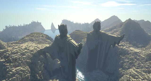 La Tierra Media en Minecraft tardó 10 años en ser terminada y luce sencillamente espectacular./Fuente: Minecraft Middle-Earth.