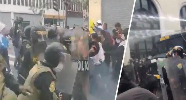 Gran indignación en redes sociales tras vídeos de enfrentamientos entre PNP y manifestantes contra Congreso