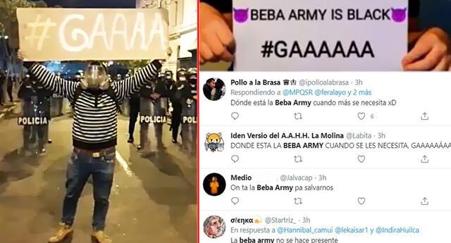 'La Beba Army' se filtra en manifestaciones contra Merino.