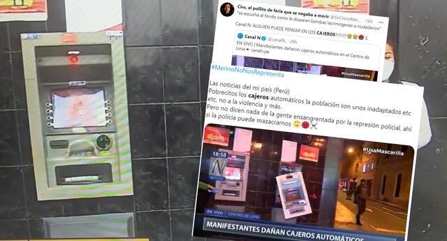 ¿Vale más un cajero que peruanos heridos? Crítican a medios de prensa que se enfocan en cajeros durante protestas