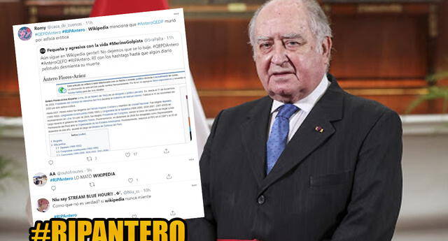 #RIPAntero : Vandalizan Wikipedia diciendo que Antero Flórez había muerto y se hizo tendencia