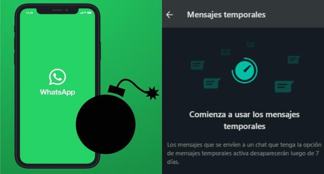 WhatsApp finalmente ha incorporado los mensajes que se autoeliminan a su servicio y aquí te enseñamos cómo usarlos./Fuente: Composición.
