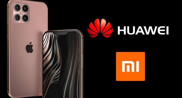 La cámara del nuevo buque insignia de Apple no pudo superar el poderío de la gama alta de Huawei y Xiaomi./Fuente: Composición.