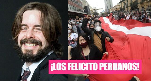 Dross felicita a los peruanos por salir a protestar contra Merino.