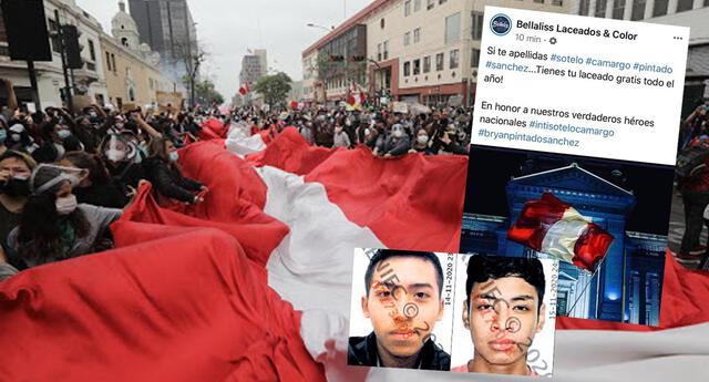 Indignación y críticas a Estética que ofreció promoción usando apellidos de jóvenes asesinados en #MarchaNacional