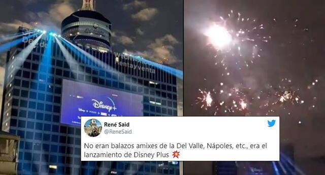 Disney Plus celebra su llegada con pirotecnia y asusta a mexicanos.