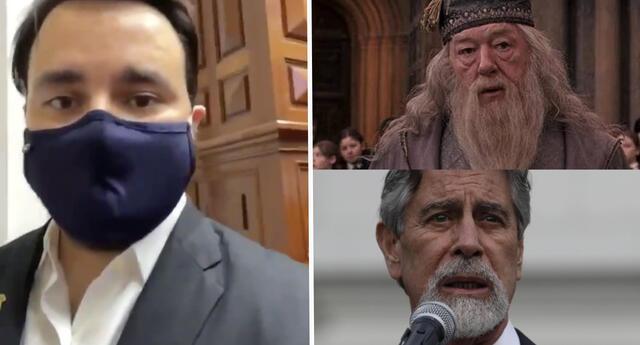 "Congresista Alberto de Belaunde le dice ""Dumbledore"" al Presidente Sagasti, en divertido video"