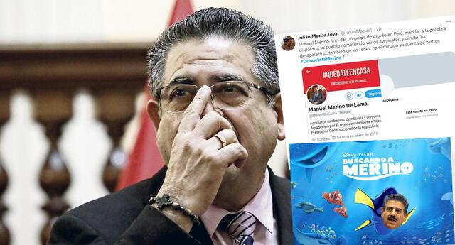 ¿Dónde está Merino? : En redes sociales, Manuel Merino desapareció tras renuncia y no hay rastro de él