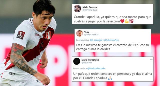 Gianluca Lapadula es apoyado por los peruanos a través de redes sociales.