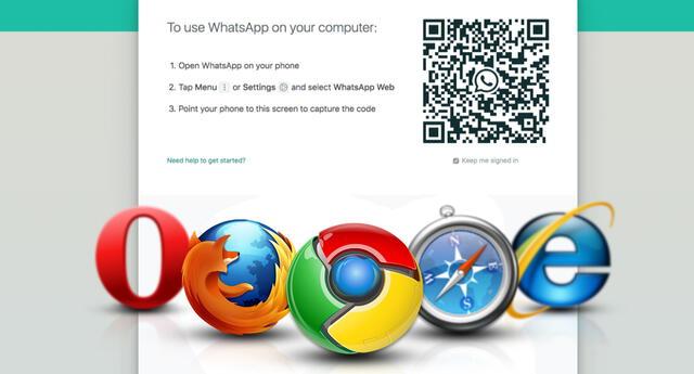 Navegadores donde WhatsApp Web no estará disponible.