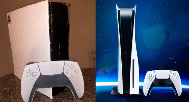 Venden PlayStation 5 hecha de cartón.