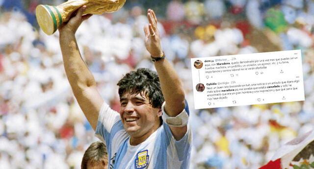 Maradona: Cientos de internautas