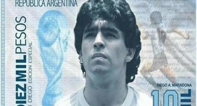 Maradona: Crean campaña para crear billete exclusivo de Diego y ya suman miles de firmas