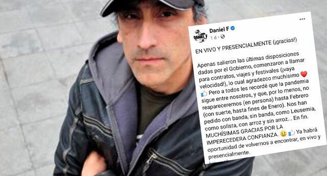 Daniel F continuará dando conciertos virtuales y da mensaje que se vuelve viral