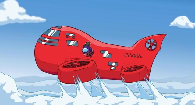 The Airship, el nuevo mapa de Among Us, llegará al videojuego a inicios de 2021./Fuente: InnerSloth.
