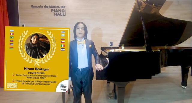 Conozca a Hiram Reategui, el niño campeón en Concurso Internacional de Piano, que dejó en alto al Perú