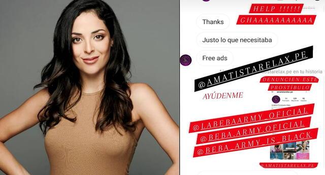 Andrea Luna pide ayuda a la 'Beba Army' para eliminar página de supuesto prostíbulo.