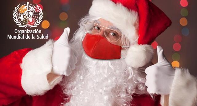 La OMS informa al mundo que Papá Noel es inmune al COVID-19 (VIDEO)