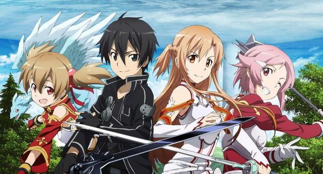El primer arco de Sword Art Online, conocido como Aincrad, es considerado como el precursor de los animes isekai pese a que no posee las características total del género./Fuente: A-1 Pictures.