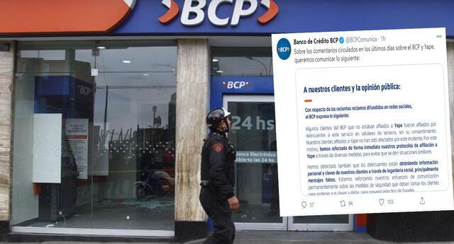El BCP responde ante las denuncias de cobros y pagos