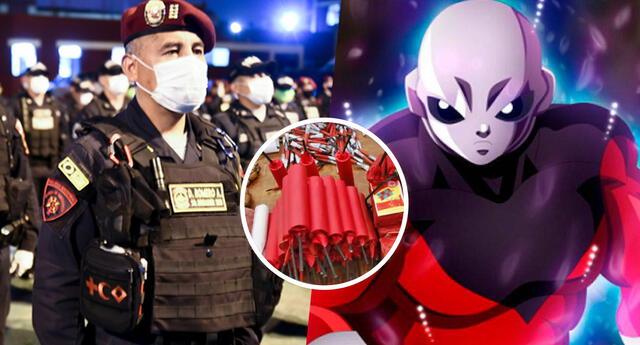 PNP usa a 'Jiren' de Dragon Ball Super para advertir sobre el uso de pirotecnia.