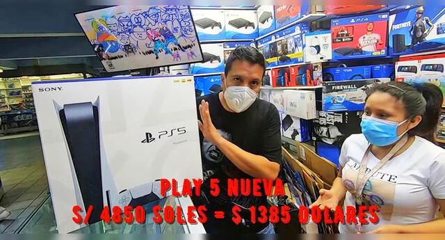 Venden la PlayStation 5 a casi S/.5000 en Polvos Azules.