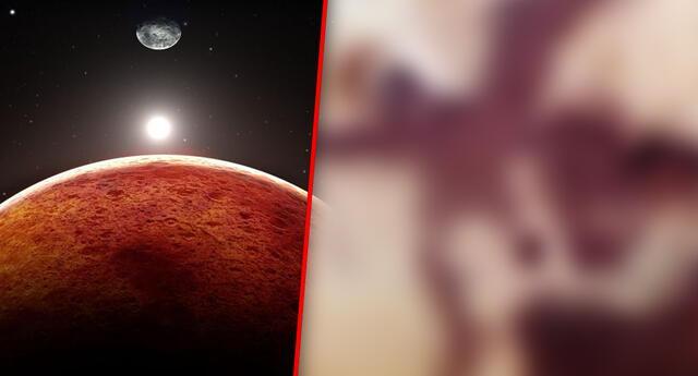 Encuentran en Marte el dibujo de un ángel y un corazón.