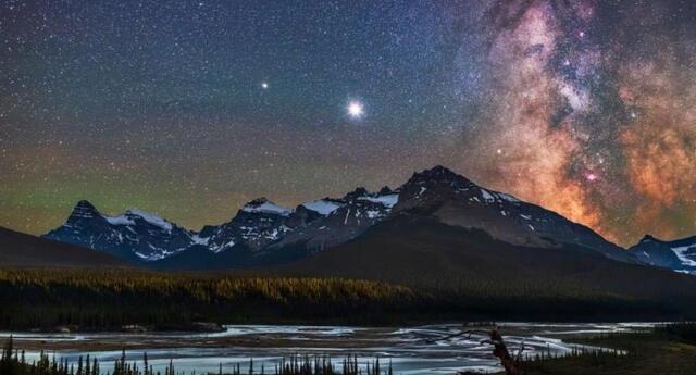 Así fue la danza celeste entre Júpiter y Saturno.