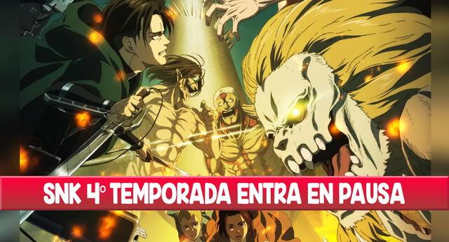 La cuarta temporada de Attack on Titan se retrasará por una semana.