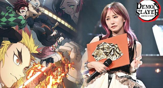"""Tema de Kimetsu no Yaiba se consagra como la """"Canción del Año"""" y la artista rompe en llanto (VIDEO)"""