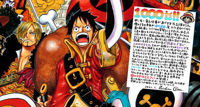 El famoso autor Eiichiro Oda anuncia el final de One Piece en épico mensaje a fans