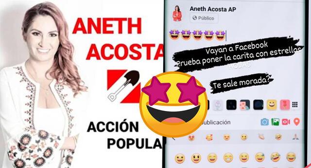 Aneth Acosta recibe críticas tras insinuar que emoji de Facebook apoya y