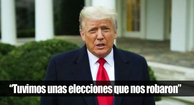 Video borrado de Donald Trump en Twitter y Facebook.