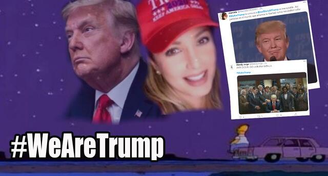 Crean hashtag #WeAreTrump en apoyo al presidente por ser echado de Twitter, pero le hacen memes