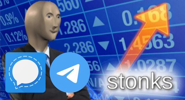 Telegram y Signal están en su mejor momento tras la implementación de las nuevas y controversiales políticas de WhatsApp./Fuente: Composición.
