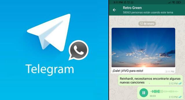Telegram desarrolló un interfaz parecida a la de Whatsapp.