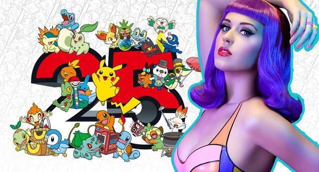 Katy Perry se une a Pokémon para celebrar el 25 aniversario de la franquicia
