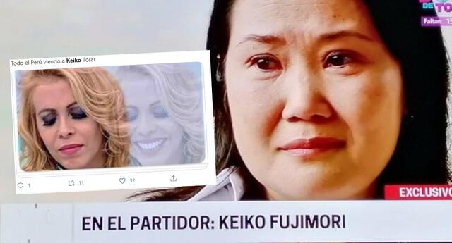 Keiko Fujimori lloró en entrevista, pero en redes sociales hacen memes al respecto y se vuelve tendencia